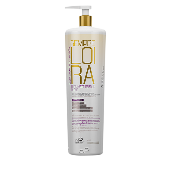 Máscara Matizadora Perola blond Op Beauty 500ml