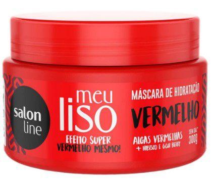Máscara Meu Liso Vermelho Super Vermelho Salon Line 300g  - LUISA PERFUMARIA E COSMETICOS