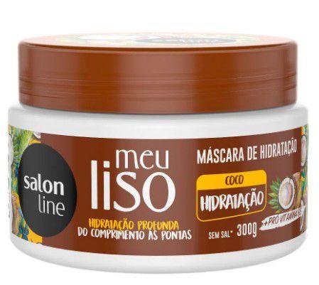 Mascara Salon Line Meu Liso Coco Hidratação 300gr  - LUISA PERFUMARIA E COSMETICOS