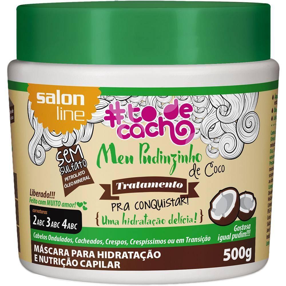 Meu Pudinzinho de Coco Tratamento Cosmético Pra Conquistar {Uma hidratação delícia} Salon Line 500g  - LUISA PERFUMARIA E COSMETICOS
