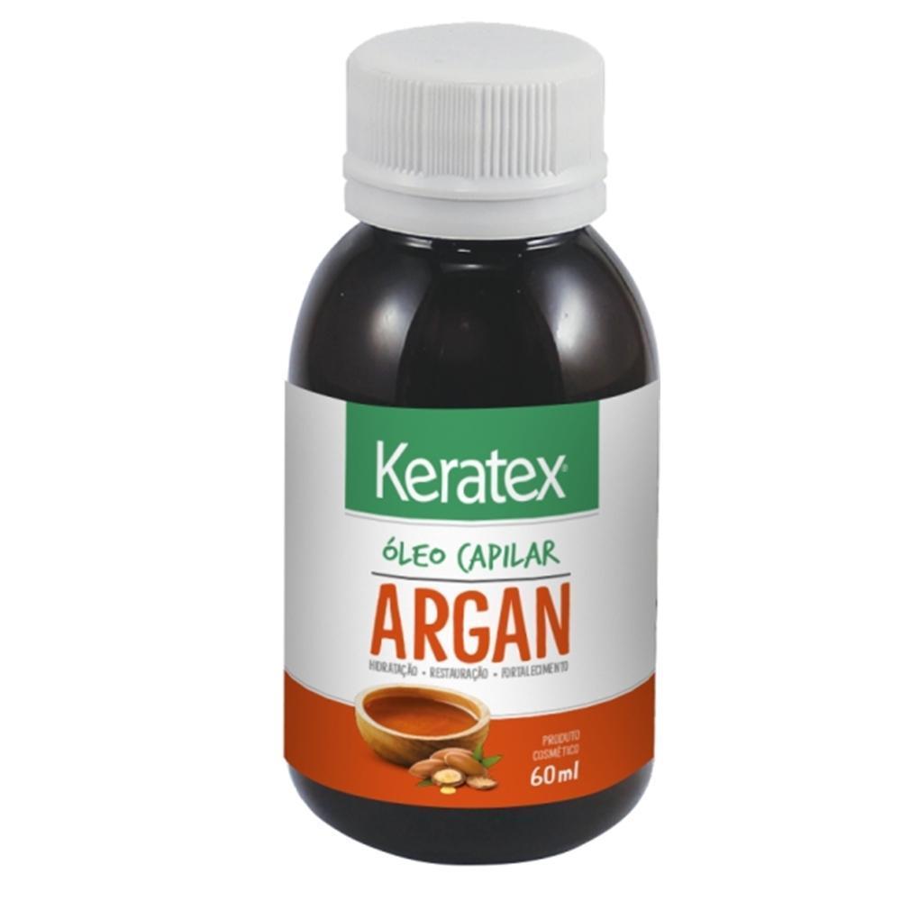 Oleo Capilar Keratex Argan 60ml  - LUISA PERFUMARIA E COSMETICOS