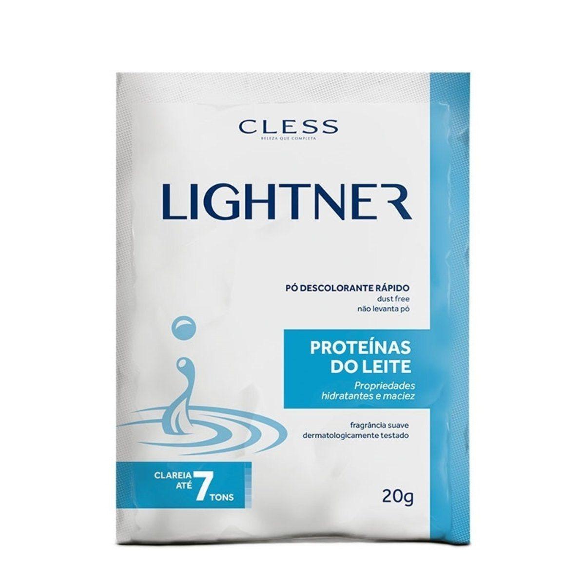 Pó Descolorante Lightner Proteina do Leite 20gr  - LUISA PERFUMARIA E COSMETICOS
