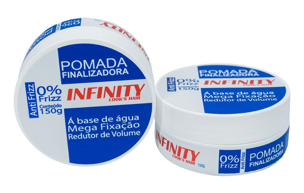 Pomada Finalizadora Infinity Looks Hair Azul 160g  - LUISA PERFUMARIA E COSMETICOS