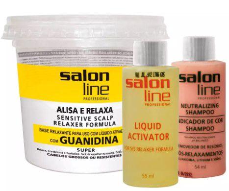 Guanidina Tradicional Super Cabelos Grossos ou Resistentes Salon Line  - LUISA PERFUMARIA E COSMETICOS