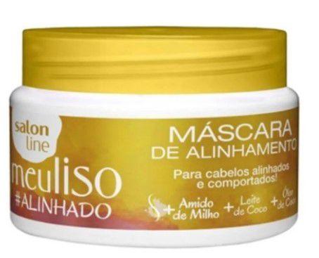 Salon Line Tratamento (Meu Liso) - Mascara De Alinhamento Alinhado 300 Gr  - LUISA PERFUMARIA E COSMETICOS