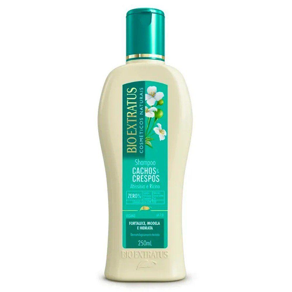 Shampoo Cachos e Crespos Bio Extratus 250ml  - LUISA PERFUMARIA E COSMETICOS