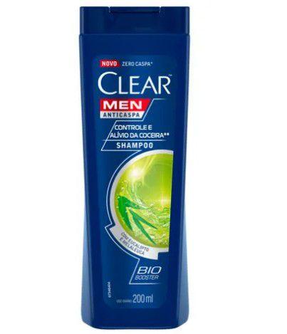 Shampoo Clear Men AntiCaspa Controle de Coceira 200ml