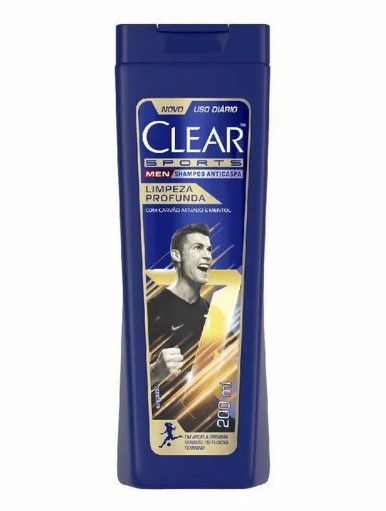 Shampoo Clear Men Sports AntiCaspa Limpeza Profunda 200ml