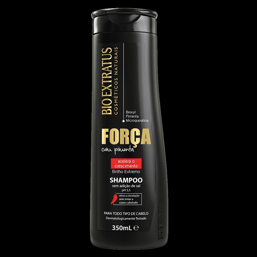Shampoo Força com Pimenta Bio Extratus 350ml  - LUISA PERFUMARIA E COSMETICOS