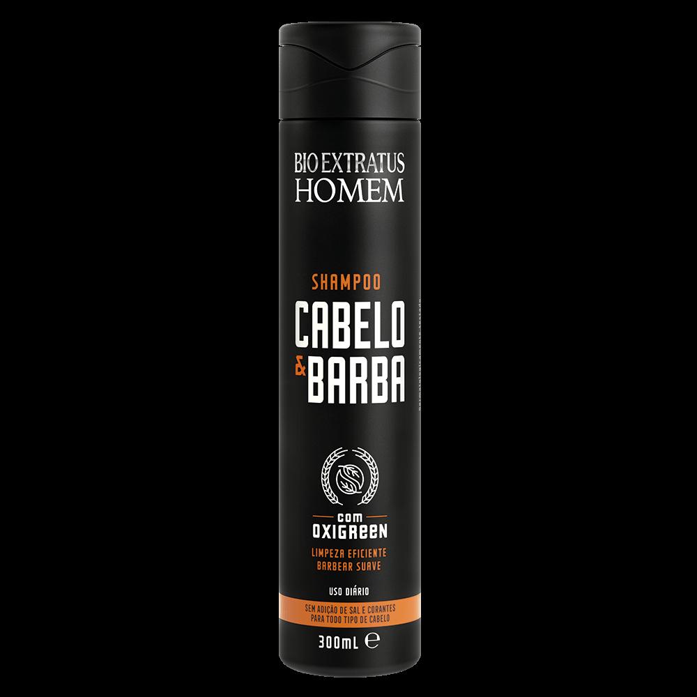 Shampoo Homem Cabelo e Barba Bio Extratus 300ml  - LUISA PERFUMARIA E COSMETICOS
