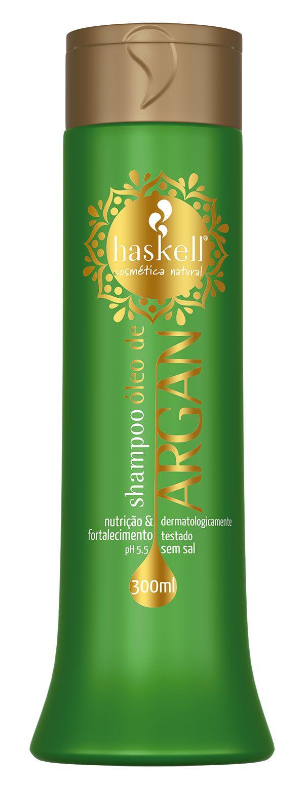 Shampoo oleo de argan Haskell 300ml  - LUISA PERFUMARIA E COSMETICOS