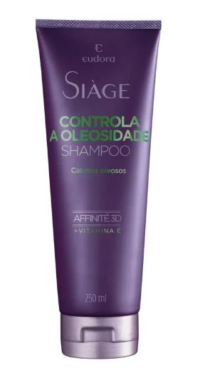 Shampoo Siage Eudora Controle de Oleosidade 250ml  - LUISA PERFUMARIA E COSMETICOS