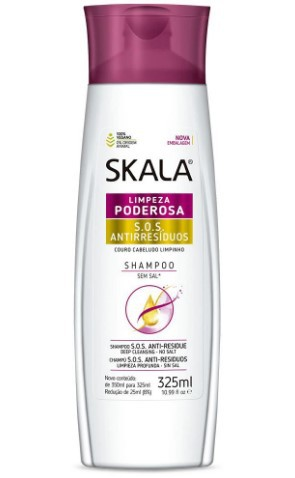 Shampoo Skala Anti Residuos 325ml  - LUISA PERFUMARIA E COSMETICOS