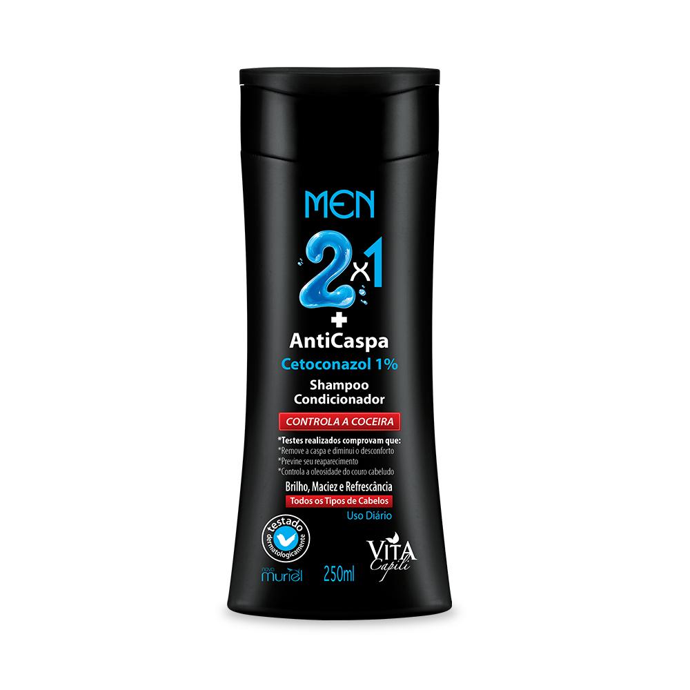 Shampoo Vita Capili Men AntiCaspa 2 em 1 Muriel 250ml