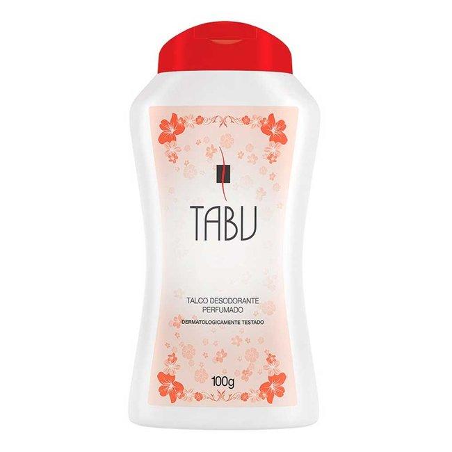 Talco Desod Perfumado Tradicional Tabu 100g  - LUISA PERFUMARIA E COSMETICOS