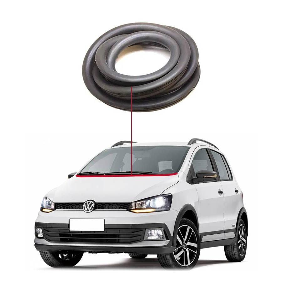 Borracha Inferior Vidro Parabrisa Volkswagen Fox 03/20 MetalSystem
