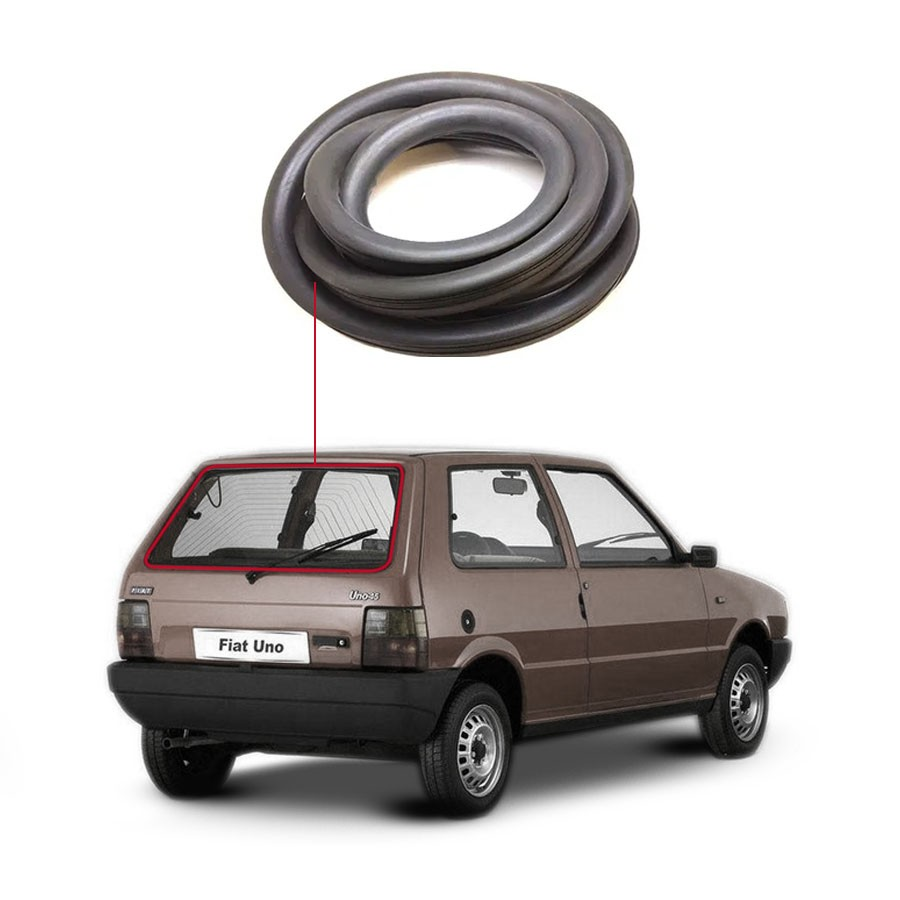 Borracha Vidro Traseiro Vigia Sem Esponja Fiat Uno 84/10 Disk-Bor