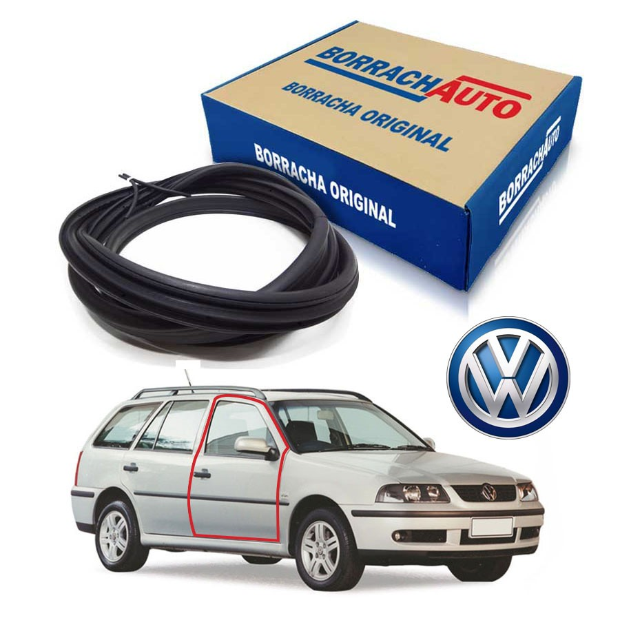 Borracha de Porta Dianteira Direita  Volkswagen Parati Bola G2 G3 G4 4 portas Borrachauto