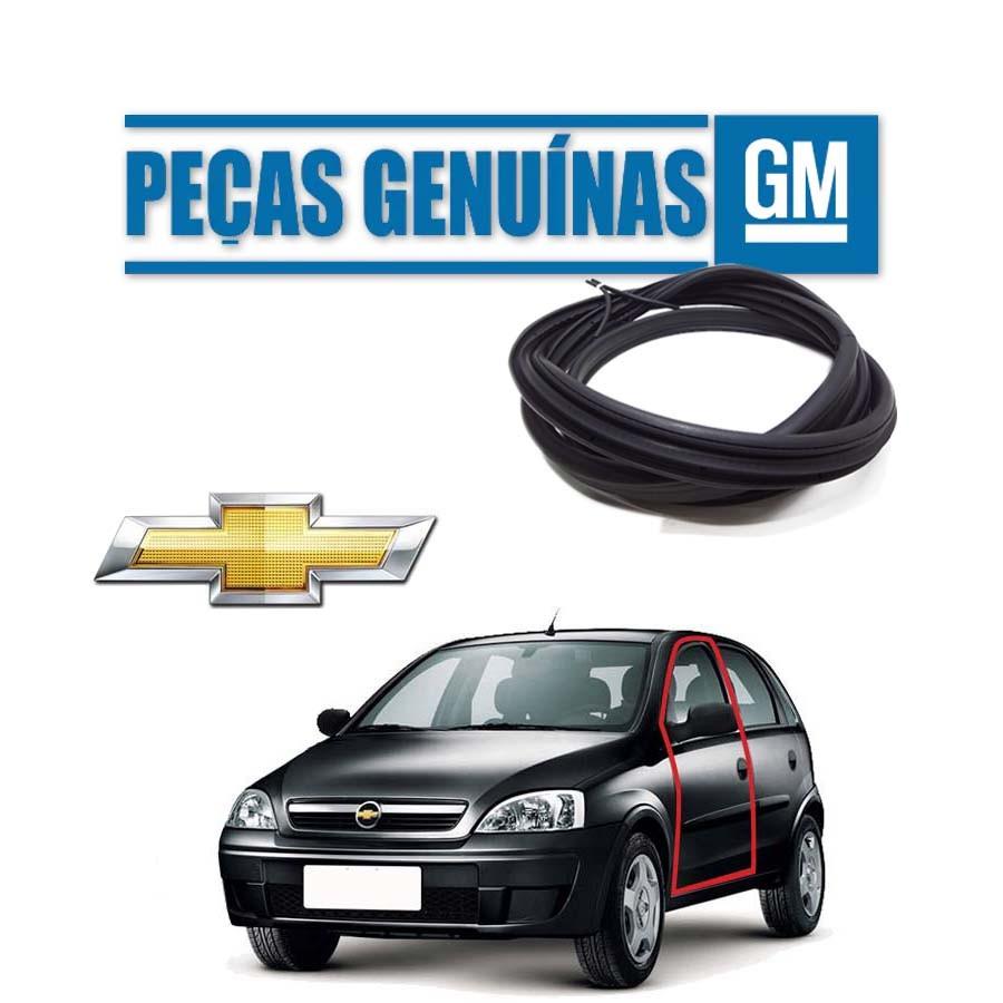 Borracha de Porta Dianteira Esquerda Genuína Chevrolet Corsa Milenium Borrachauto