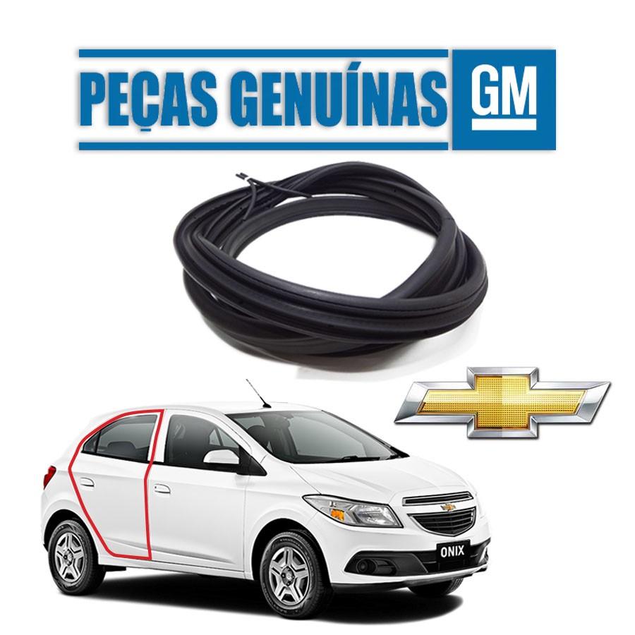 Borracha de Porta Traseira Direita Genuína Chevrolet Onix 13/19 4 portas Borrachauto