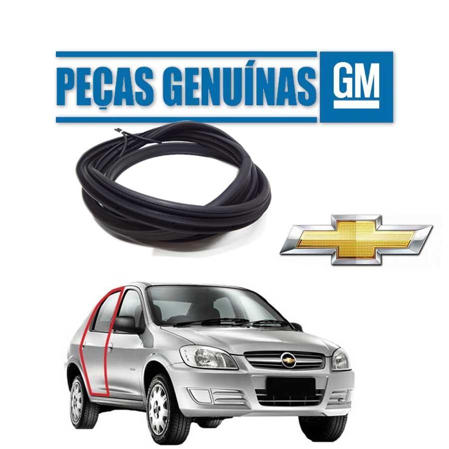 Borracha de Porta Traseira Direita Genuína Chevrolet Prisma Borrachauto
