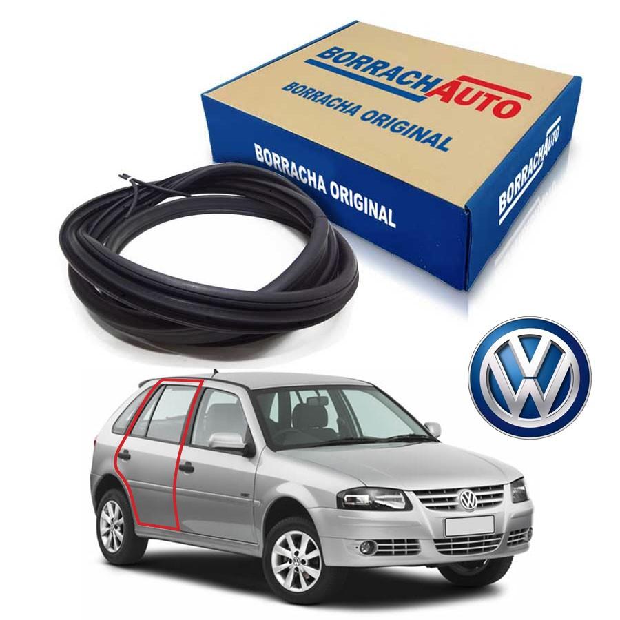 Borracha de Porta Traseira Direita  Volkswagen Gol Bola G2 G3 G4 4 portas Borrachauto