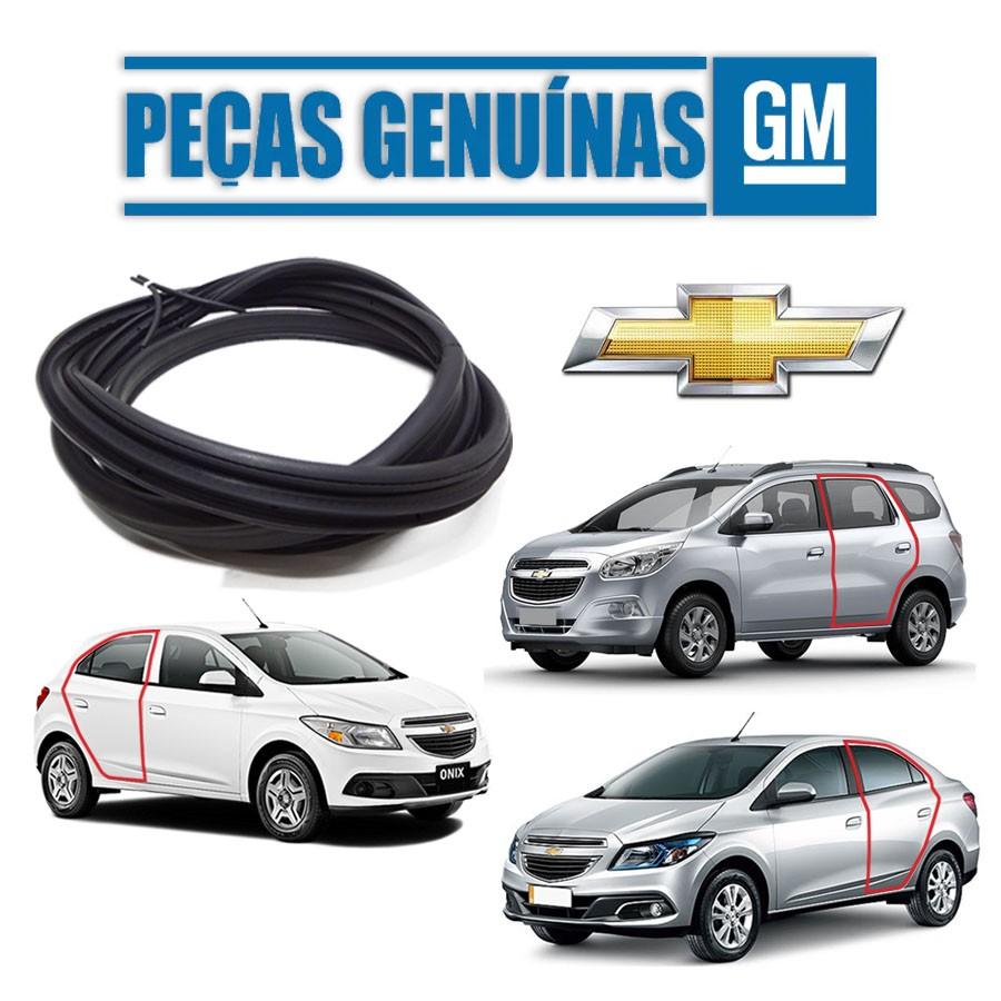 Borracha de Porta Traseira Direita ou Esquerda Com Aba Chevrolet Onix 13/19 / Prisma 13/19  / Spin 12/20 Borrachauto