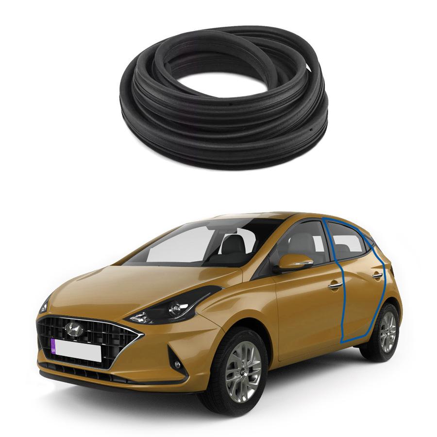 Borracha de Porta Traseira Direita ou Esquerda Hyundai Hb20 12/19 Borrachauto
