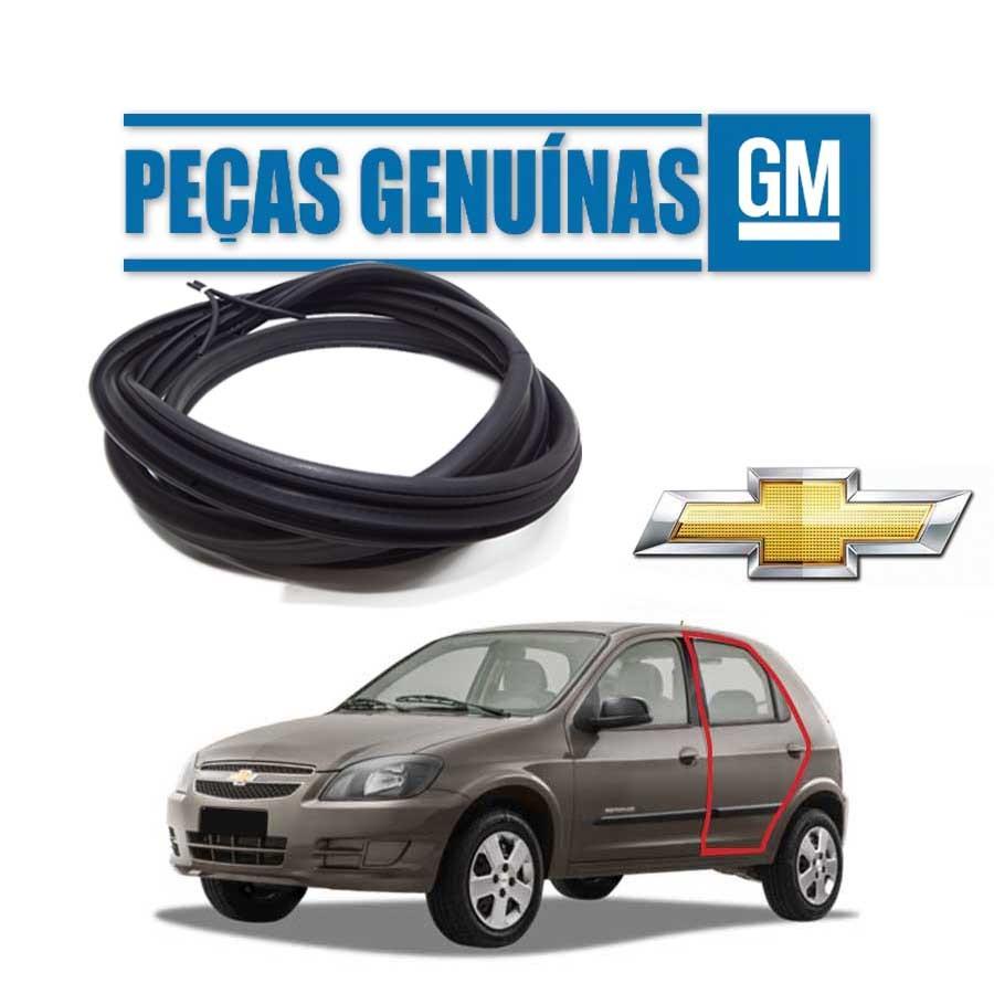 Borracha de Porta Traseira Esquerda Genuína Chevrolet Celta 4 portas Borrachauto
