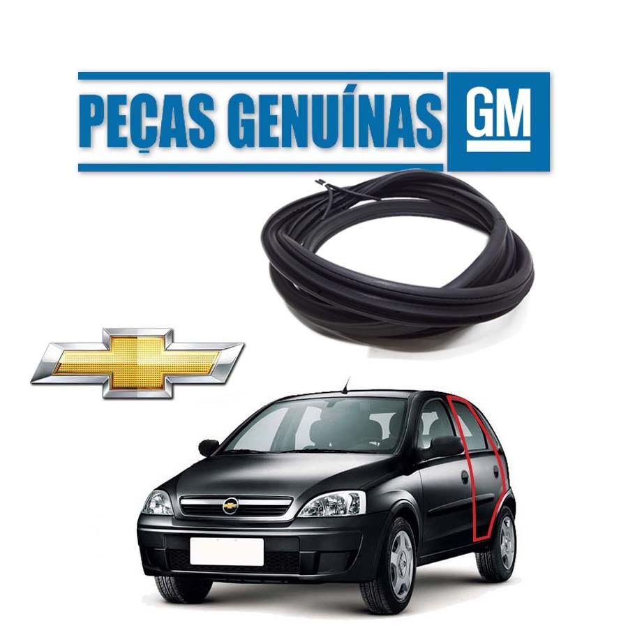 Borracha de Porta Traseira Esquerda Genuína Chevrolet Corsa Milenium Borrachauto
