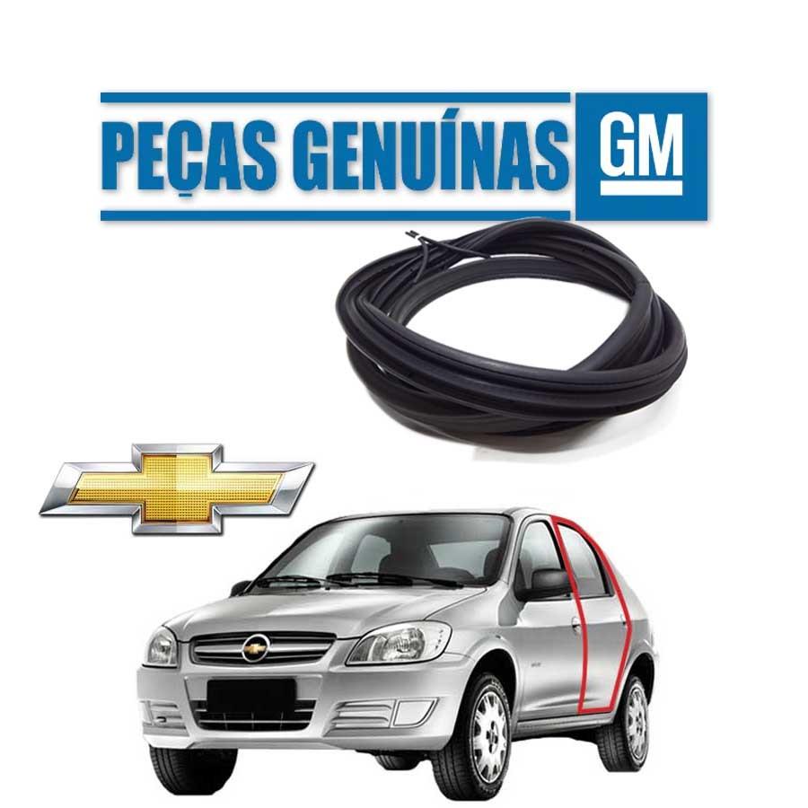 Borracha de Porta Traseira Esquerda Genuína Chevrolet Prisma Borrachauto