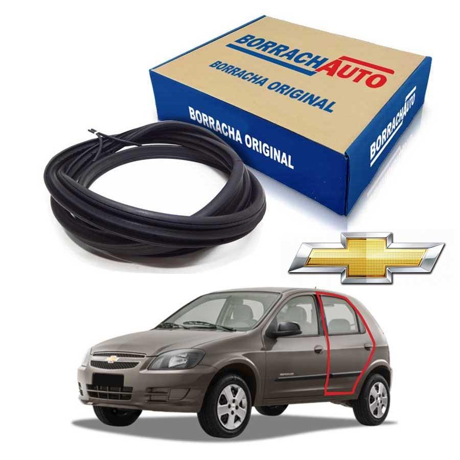 Borracha de Porta Traseira Esquerda  Chevrolet Celta 4 portas Borrachauto
