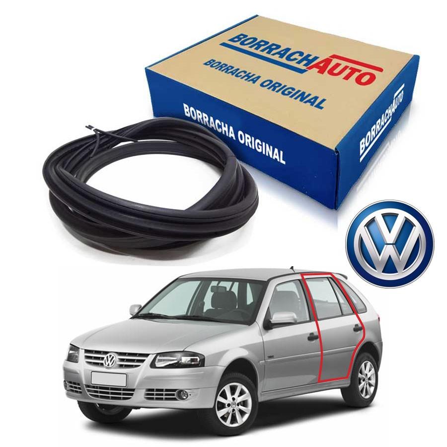 Borracha de Porta Traseira Esquerda  Volkswagen Gol Bola G2 G3 G4 4 portas Borrachauto
