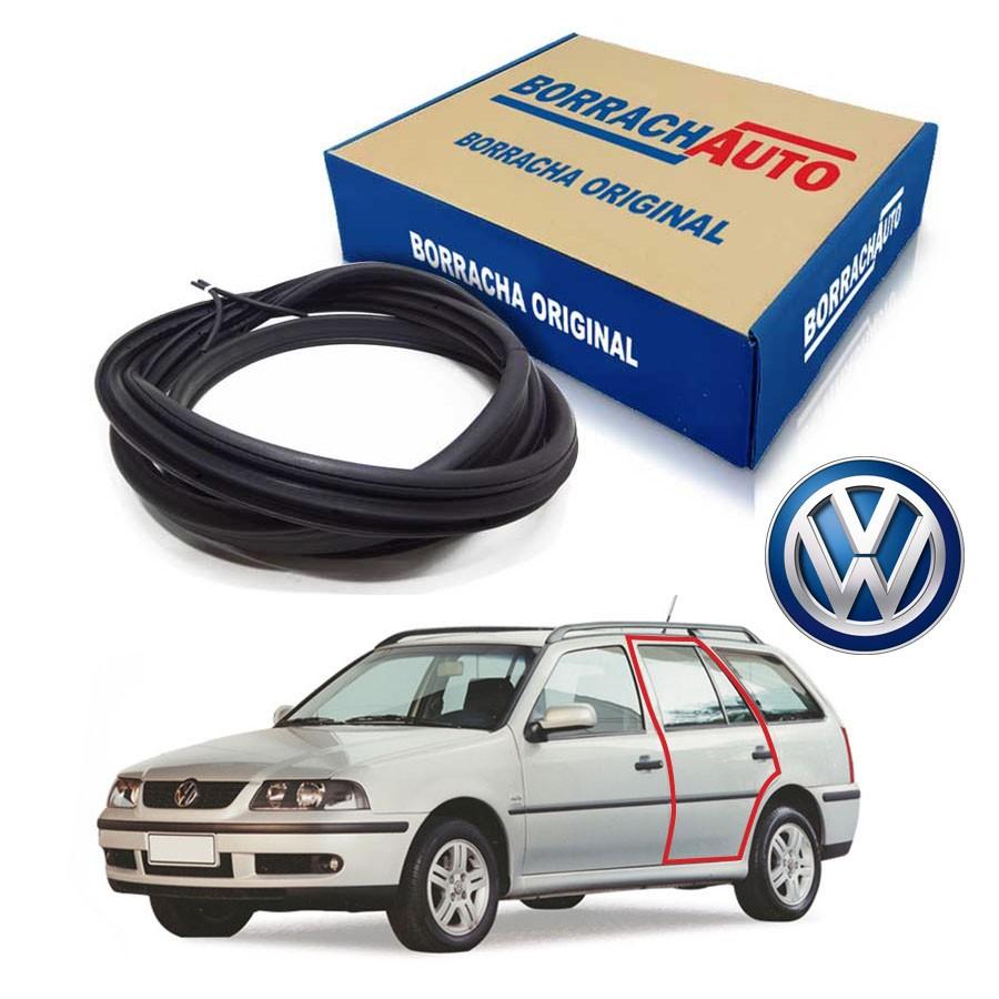Borracha de Porta Traseira Esquerda  Volkswagen Parati G2 G3 G4 4 portas Borrachauto