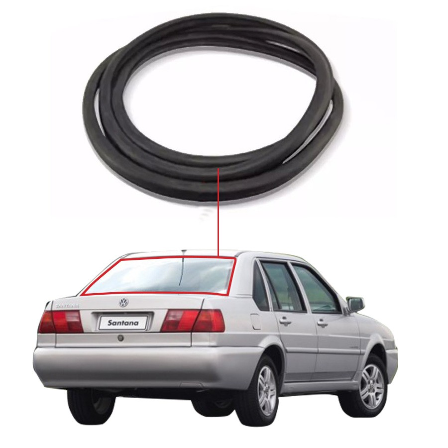 Borracha Vidro Traseiro Vigia Sem Friso Volkswagen Santana 98/06