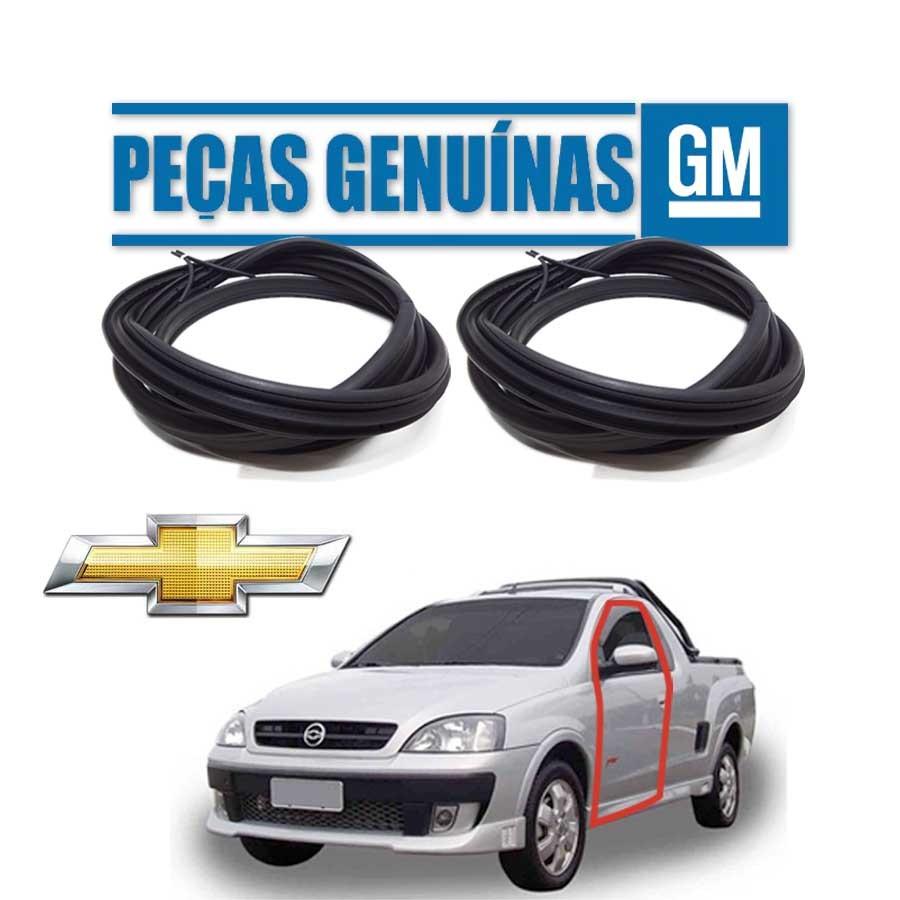 Kit de 2 Borrachas de Porta Dianteira e Traseira Direita Genuína Chevrolet Montana 03/10 2 portas Borrachauto
