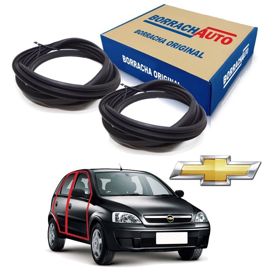 Kit de 2 Borrachas de Porta Dianteira e Traseira Direita  Chevrolet Corsa Milenium Borrachauto