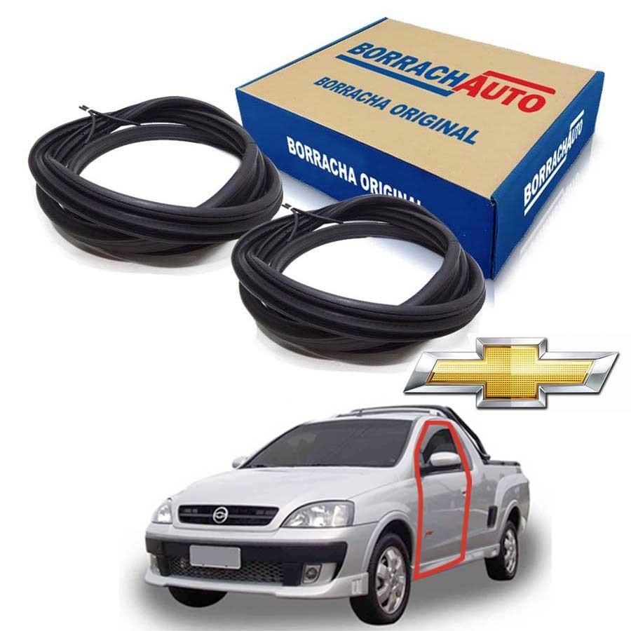 Kit de 2 Borrachas de Porta Dianteira e Traseira Direita  Chevrolet Montana 03/10 2 portas Borrachauto