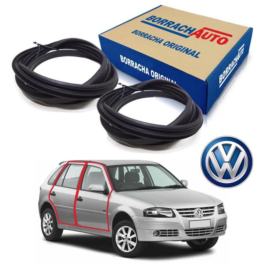 Kit de 2 Borrachas de Porta Dianteira e Traseira Direita  Volkswagen Gol Bola G2 G3 G4 4 portas Borrachauto