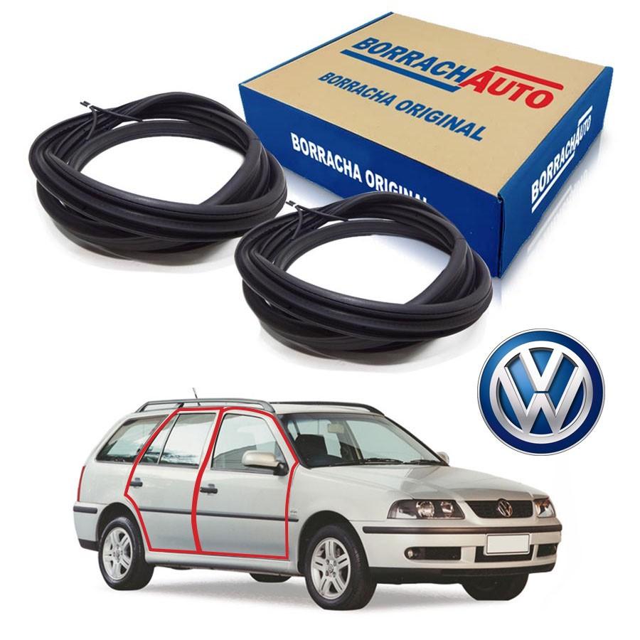 Kit de 2 Borrachas de Porta Dianteira e Traseira Direita  Volkswagen Parati Bola G2 G3 G4 4 portas Borrachauto