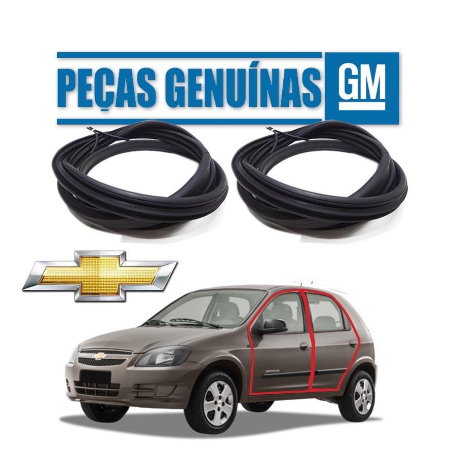Kit de 2 Borrachas de Porta Dianteira e Traseira Esquerda Genuína Chevrolet Celta 4 portas Borrachauto