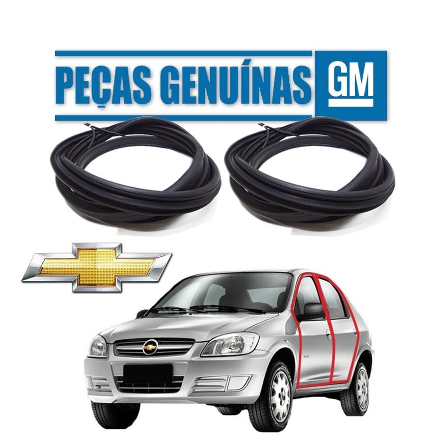 Kit de 2 Borrachas de Porta Dianteira e Traseira Esquerda Genuína Chevrolet Prisma Borrachauto