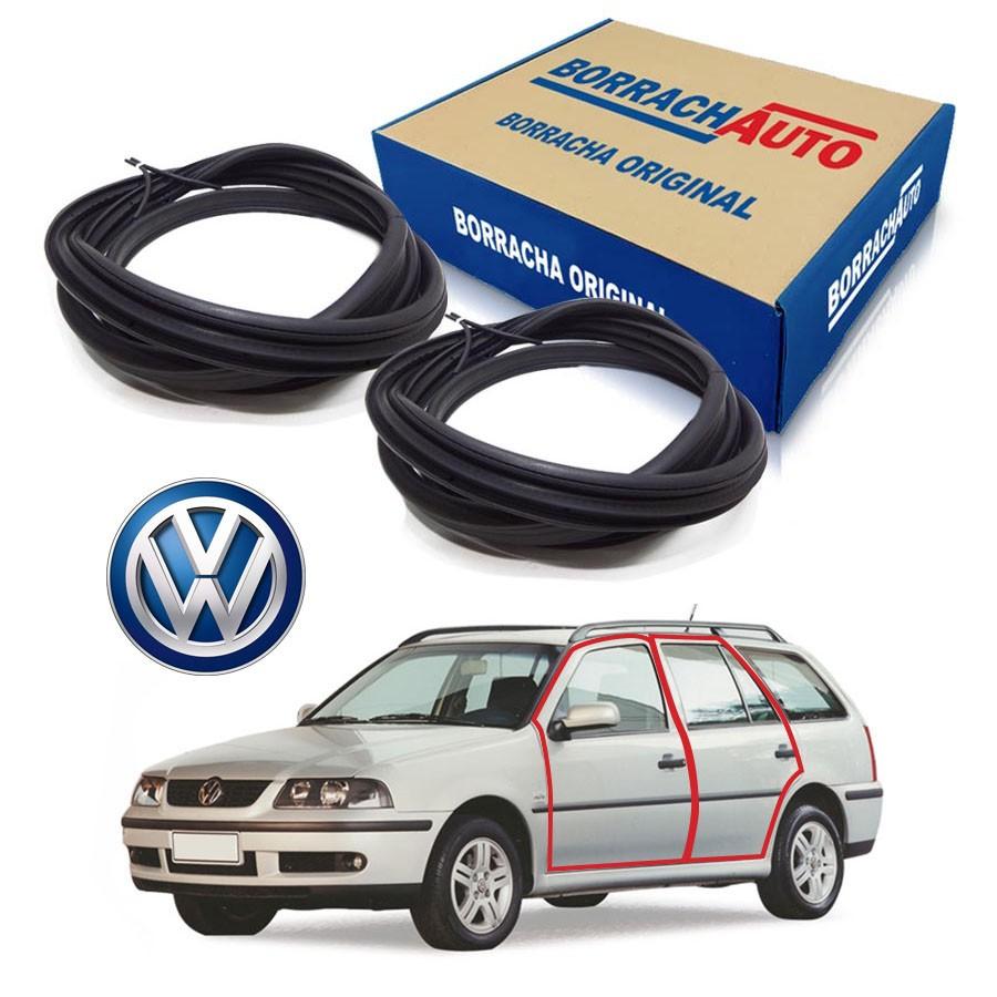 Kit de 2 Borrachas de Porta Dianteira e Traseira Esquerda  Volkswagen Parati Bola G2 G3 G4 4 portas Borrachauto