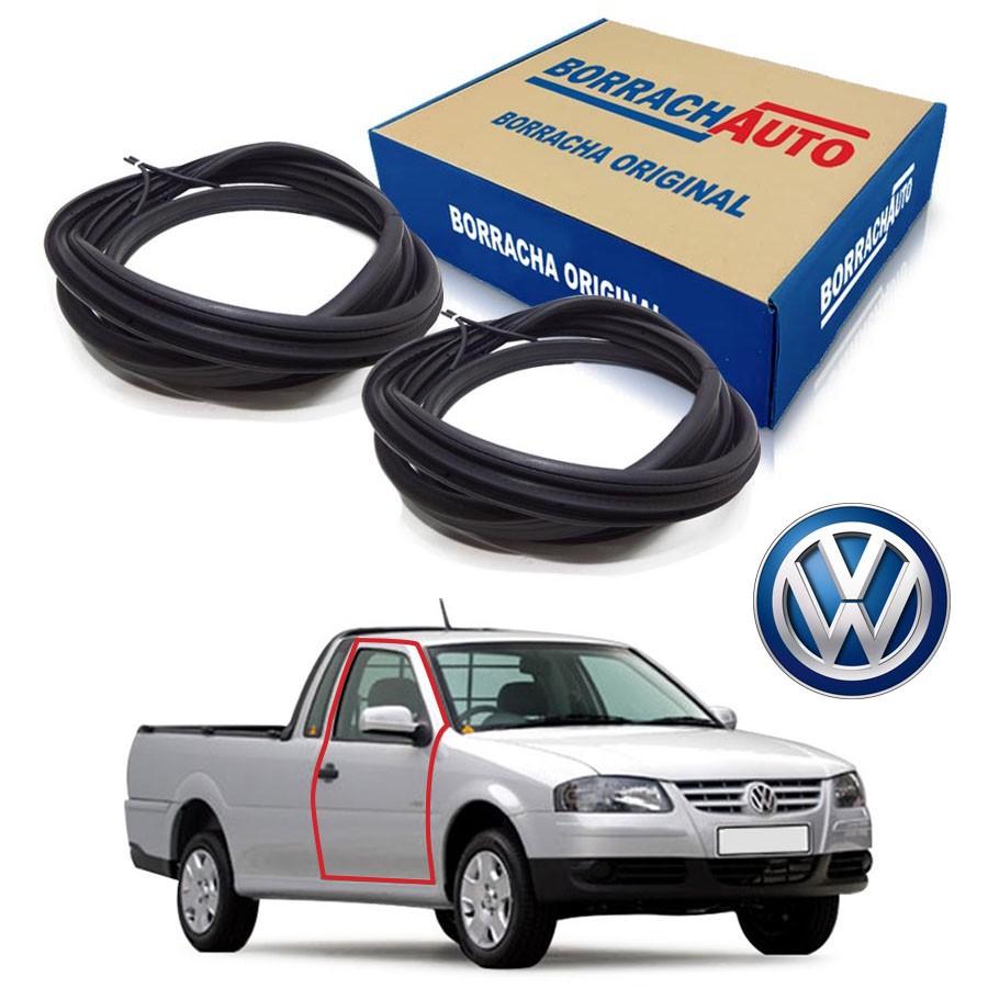 Kit de 2 Borrachas de Porta Dianteira e Traseira Esquerda Original Volkswagen Saveiro Bola G2 G3 G4 Borrachauto