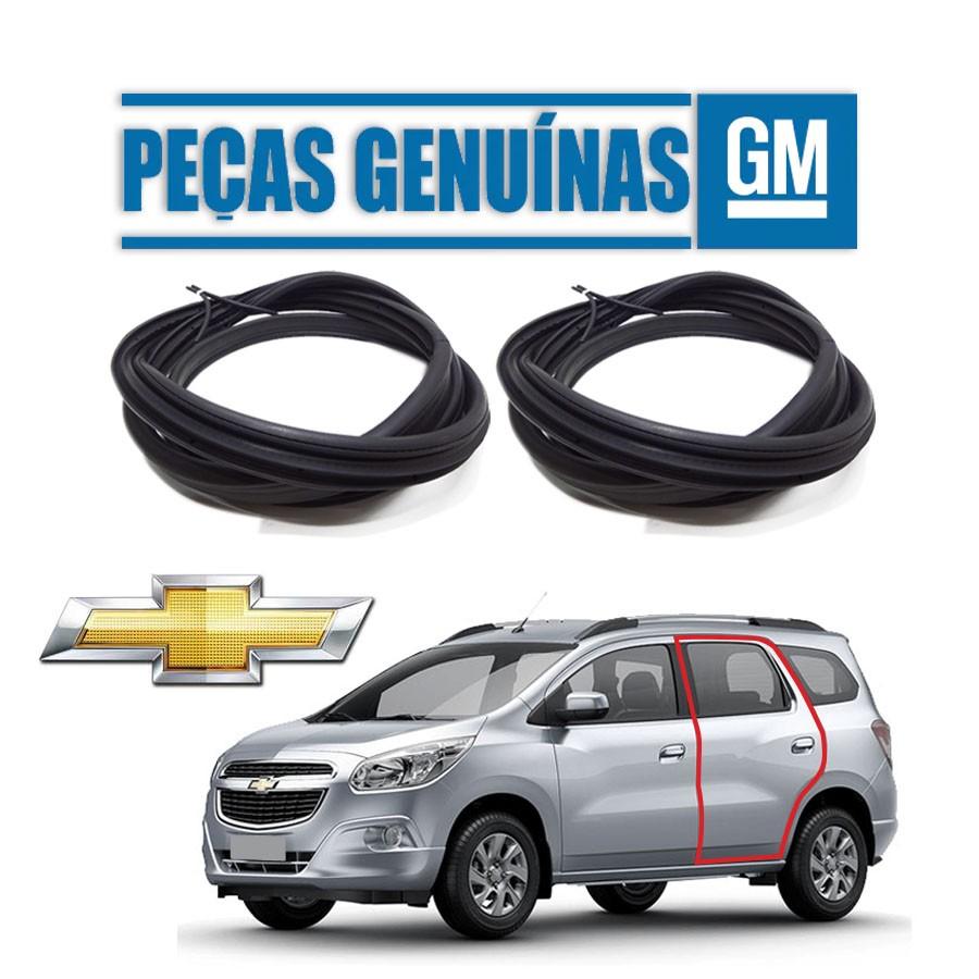 Kit de 2 Borrachas de Portas Traseiras Genuína Chevrolet Spin 12/20  4  portas Borrachauto