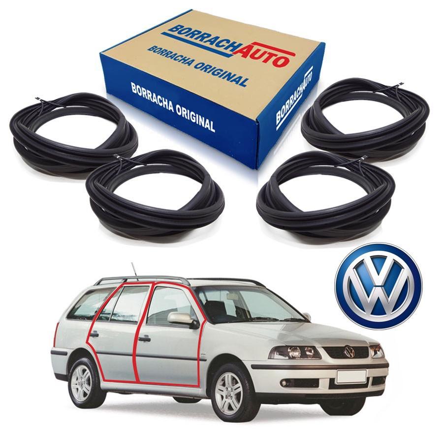 Kit de 4 Borrachas de Portas Dianteira e Traseira  Volkswagen Parati Bola G2 G3 G4 4 portas Borrachauto