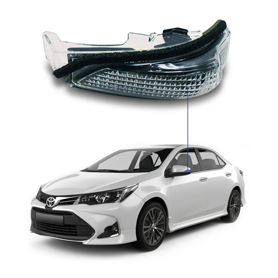 Pisca para Retrovisor Toyota Corolla 15/19 Lado Esquerdo Motorista l