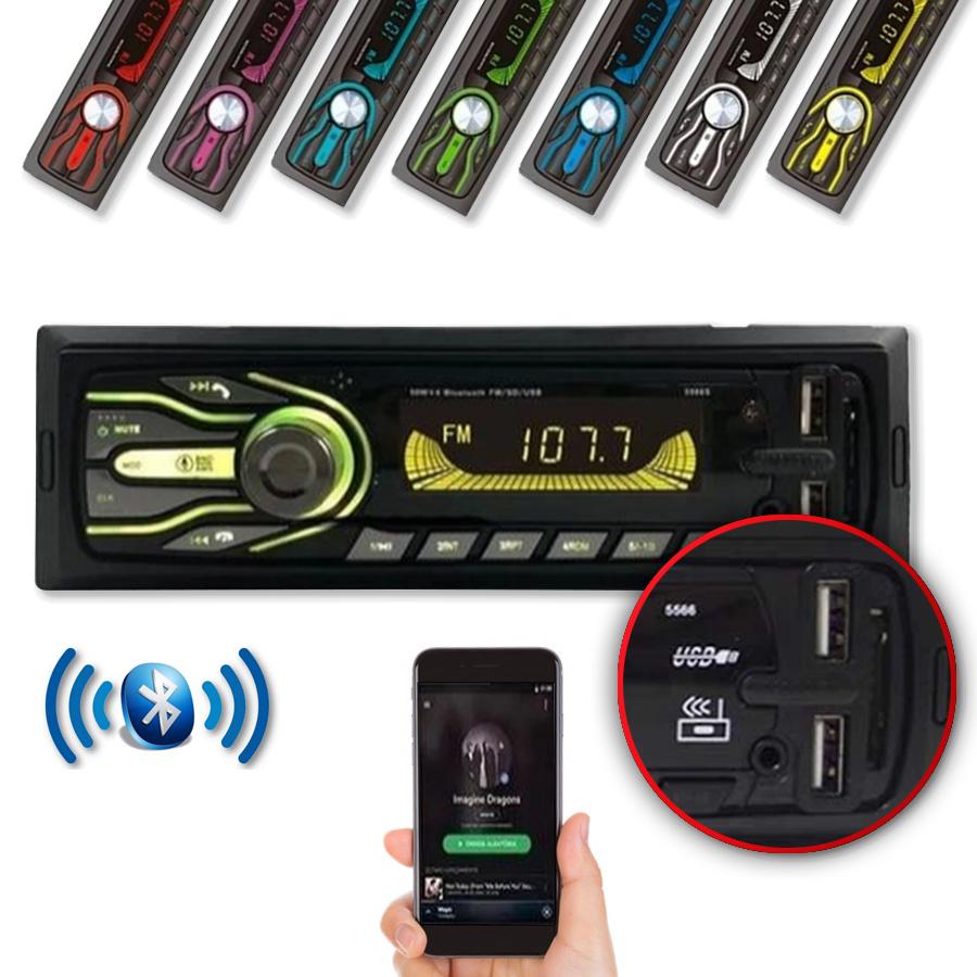 Radio Automotivo Fm Bluetooth Usb Sd Auxiliar First Option