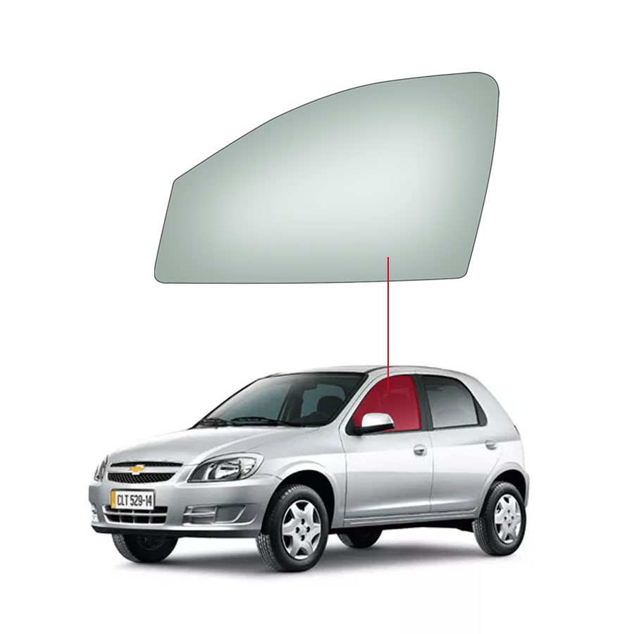 Vido Porta Dianteira Esquerda Chevrolet Celta 00/11 / Prisma 06/12 Saint Gobain