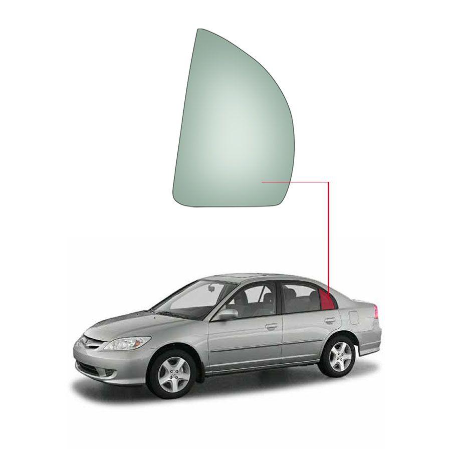 Vidro Janela Fixa de Porta Traseira Honda Civic 06/11 Fanavid